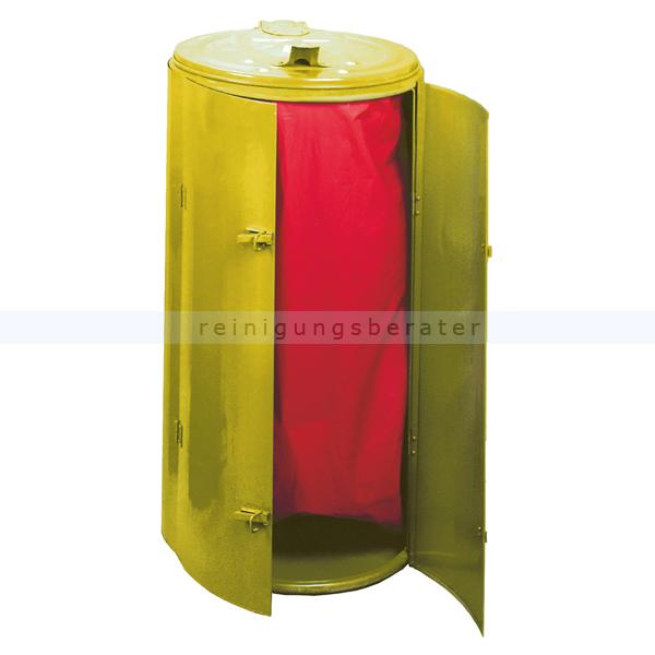 Mülleimer Kompakt Abfallbehälter galv. Stahl gepulvert gelb