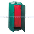 Mülleimer Kompakt Abfallbehälter galv. Stahl gepulvert grün