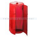 Mülleimer Kompakt Abfallbehälter galv. Stahl gepulvert rot