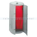 Mülleimer Kompakt Abfallbehälter galv. Stahl gepulvert weiß
