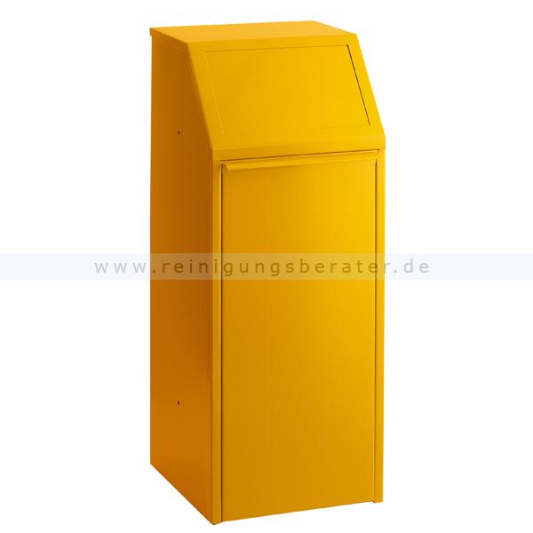 m lleimer mit pushklappe gelb 70 l. Black Bedroom Furniture Sets. Home Design Ideas