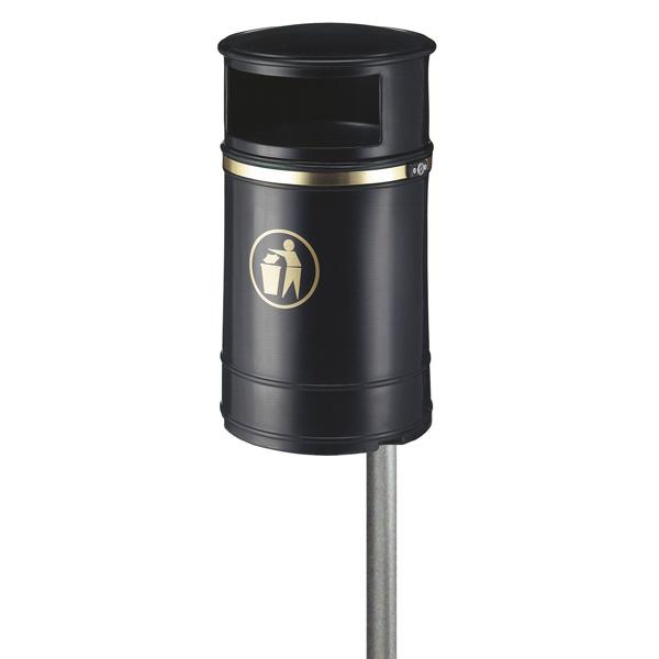 Mülleimer Nickleby Schwarz 40 L Außenbehälter mit Metallinneneimer