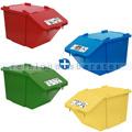 Mülleimer NordSüd Oekonom Abfallbehälter mit Deckel 40 L 4er Set