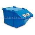 Mülleimer NordSüd Oekonom Abfallbehälter mit Deckel 40 L blau