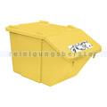 Mülleimer NordSüd Oekonom Abfallbehälter mit Deckel 40 L gelb
