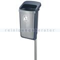 Mülleimer Plastic Omnium Außenbehälter Grau-Ozeanblau 50 L