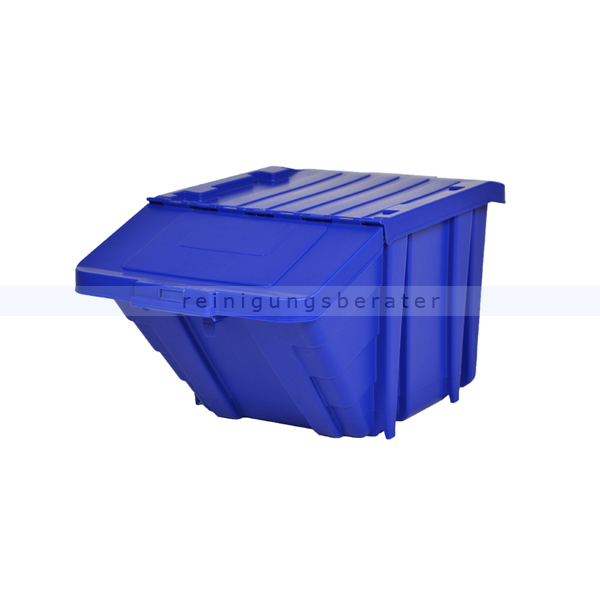 m lleimer recycling box mit deckel blau 45 l. Black Bedroom Furniture Sets. Home Design Ideas