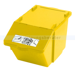 m lleimer recycling box mit deckel gelb 45 l. Black Bedroom Furniture Sets. Home Design Ideas