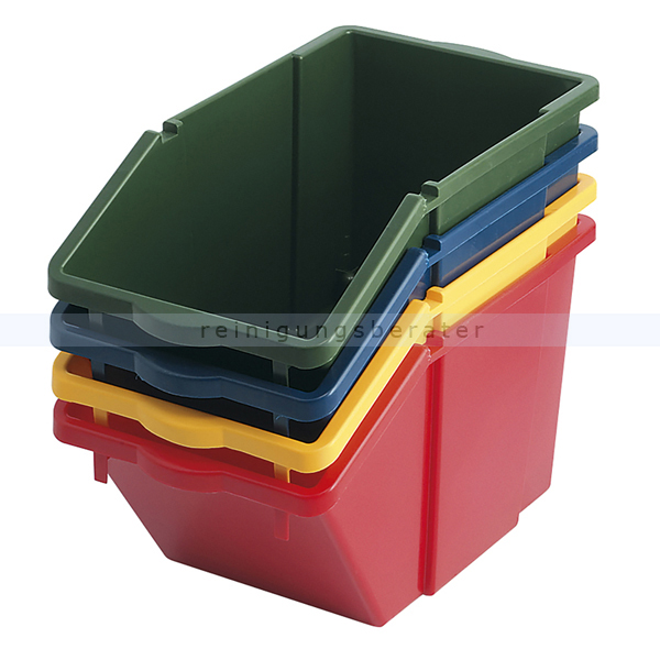 m lleimer recycling box mit deckel gr n 45 l. Black Bedroom Furniture Sets. Home Design Ideas