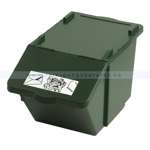 m lleimer recycling box mit deckel gr n 58 l. Black Bedroom Furniture Sets. Home Design Ideas