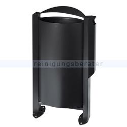 arkea m lleimer rossignol 60 l mit ascher 3 l mangangrau. Black Bedroom Furniture Sets. Home Design Ideas