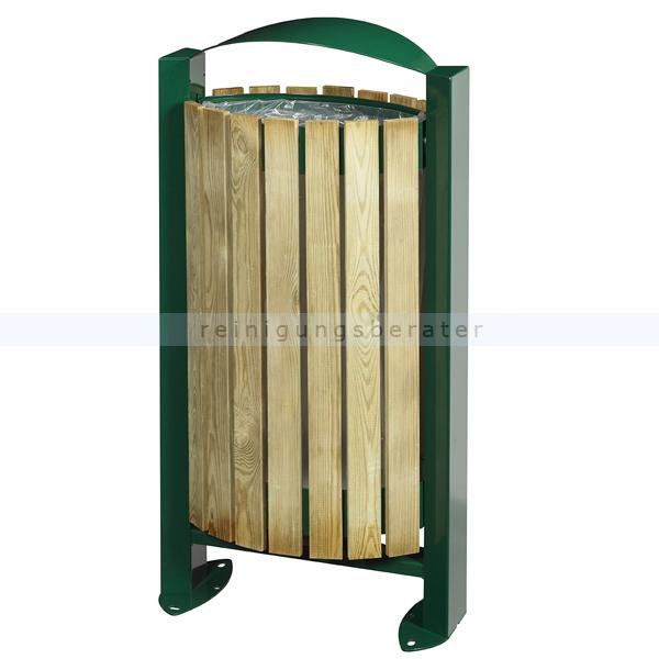 arkea m lleimer rossignol mit holzfassade 60 l moosgr n. Black Bedroom Furniture Sets. Home Design Ideas