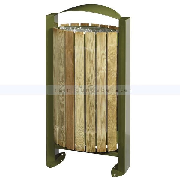 arkea m lleimer rossignol mit holzfassade 60 l olivgr n. Black Bedroom Furniture Sets. Home Design Ideas