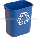 Mülleimer Rubbermaid blau 13 L