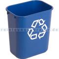 Mülleimer Rubbermaid blau 13 L