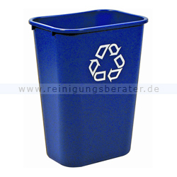 Mülleimer Rubbermaid Rechteckiger Abfallbehälter 39 L Blau