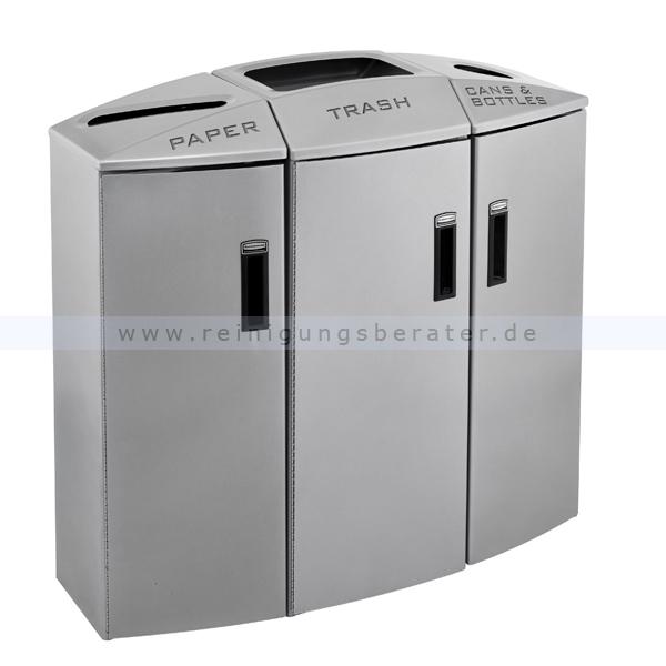 Recycling Mülleimer rubbermaid recycling element grau 400 l