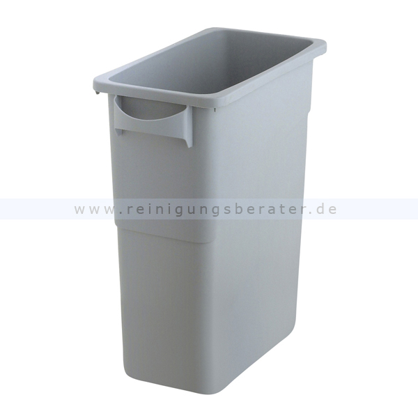 Super Mülleimer Rubbermaid Slim Jim mit Griffen 60 L Grau US11