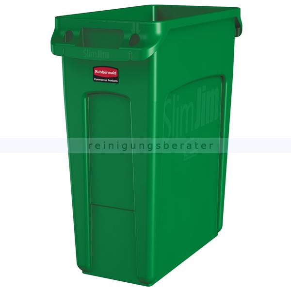 Rubbermaid Slim Jim mit Luftschlitze 60 L grün Mülleimer feste, gegossene Griffe 76227857
