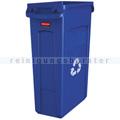 Mülleimer Rubbermaid Slim Jim mit Luftschlitze 87 L blau
