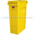 Mülleimer Rubbermaid Slim Jim mit Luftschlitze 87 L gelb