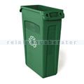 Mülleimer Rubbermaid Slim Jim mit Luftschlitze 87 L grün