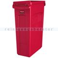 Mülleimer Rubbermaid Slim Jim mit Luftschlitze 87 L rot