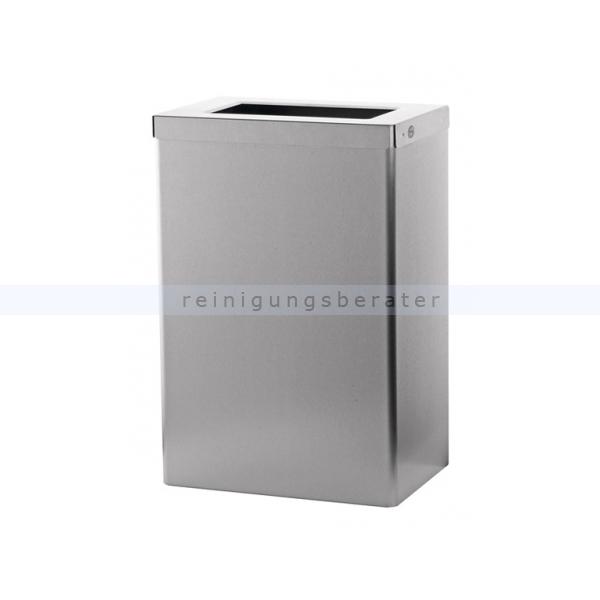 Mülleimer SanTRAL Abfallbehälter halboffen 50 L Edelstahl