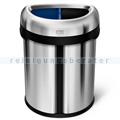 Mülleimer Simplehuman mit Doppelfach 66 Liter Edelstahl