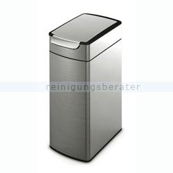 Mülleimer Simplehuman Slim Touch-Bar Bin 40 L Edelstahl matt
