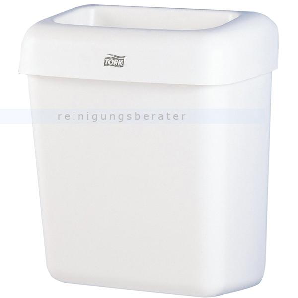 SCA Tork 226100 Abfallbehälter 20 L weiß mit halb offenen Deckel