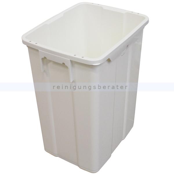 Mülleimer TTS Kunststoffbehälter MAX 50 L weiß