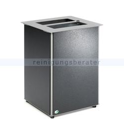 Mülleimer VAR Abfallbehälter AB 01 Stahl antik-silber 80 L
