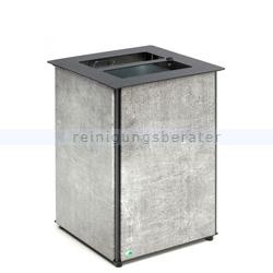 Mülleimer VAR Abfallbehälter AB 04 Edelstahl Steinoptik 80 L
