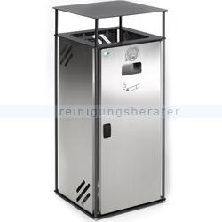 Mülleimer VAR Abfallbehälter B 40 Edelstahl 51 L