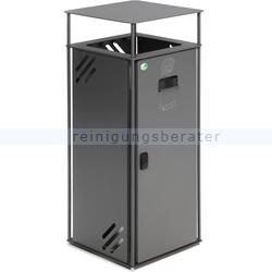 Mülleimer VAR Abfallbehälter B 40 Stahlblech eisenglimmer 51 L