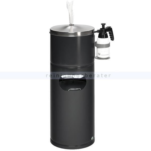 Mülleimer VAR Desinfektionsstation schwarzgrau 32 L