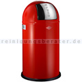 Mülleimer Wesco Pushboy rot 50 L