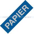 Mülleimer Zubehör Alicante blau Label Papier