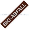 Mülleimer Zubehör Alicante braun Label Bio-Abfall