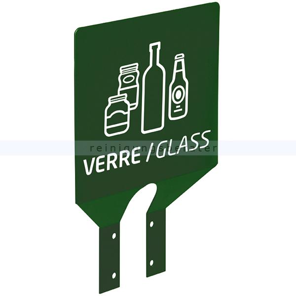 COLLEC Rossignol Hinweisschild Glasmüll moosgrün für Glasmüll, moosgrün 56029