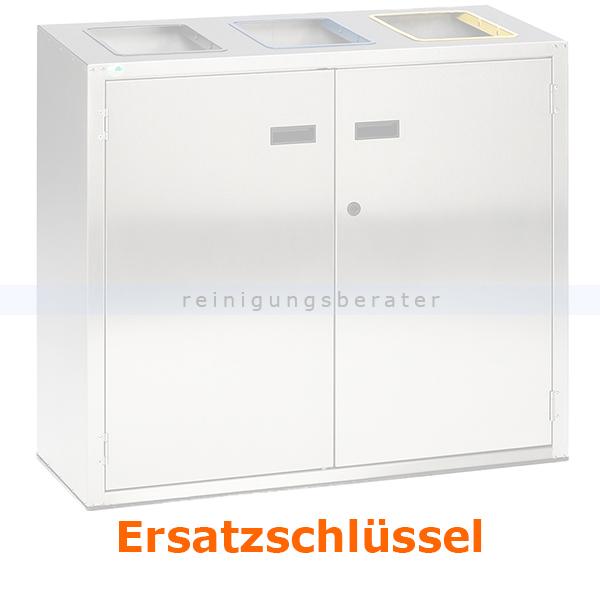 Mülleimer Zubehör VAR Ersatzschlüssel Mülltrennsystem Universalschlüssel für VAR 21260 Mülltrennsystem 3-fach 270L m1507