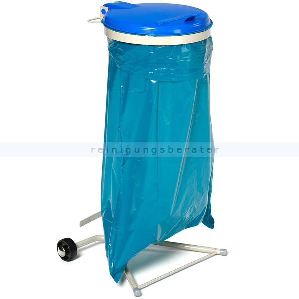 MüllsackständerVAR WSR 120 Müllsackhalter fahrbar blau ideal für 120 L Müllsäcke, robuste und stabile Konstruktion 1641