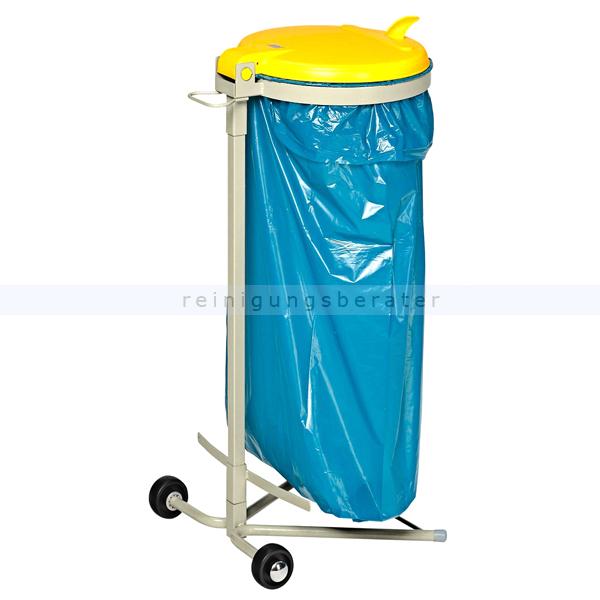 MüllsackständerVAR WSR 120 Müllsackhalter fahrbar gelb ideal für 120 L Müllsäcke, robuste und stabile Konstruktion 1640