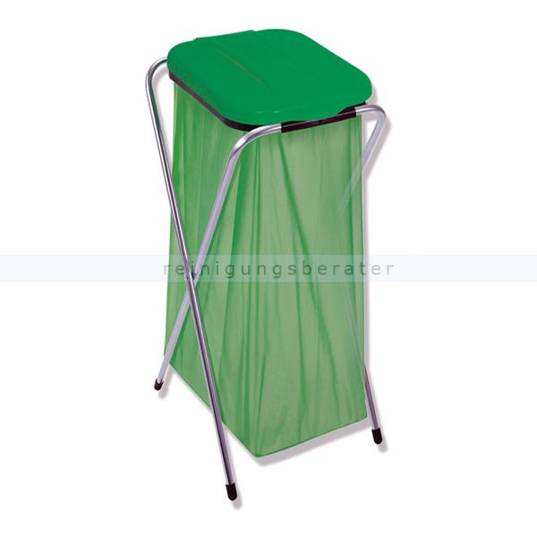 Müllsackständer 1-fach grün
