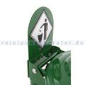 Müllsackständer Signalplatte aus Stahl Grün