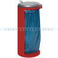 Müllsackständer VAR Kompakt Junior Mülleimer 120 L rot