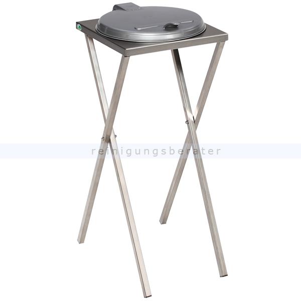 Müllsackständer VAR Scherenständer stationär 120 L silber ideal für 120 L Müllsäcke, robuste und stabile Konstruktion 3632