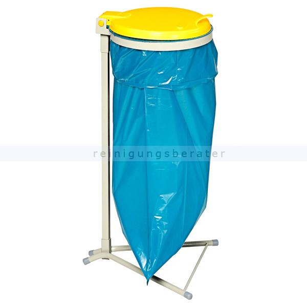 Müllsackständer VAR WS 120 Müllsackhalter stationär gelb ideal für 120 L Müllsäcke, robuste und stabile Konstruktion 1680