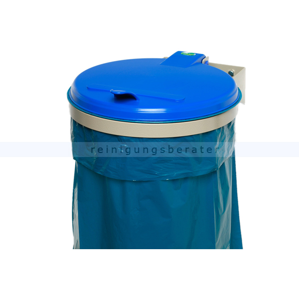 Müllsackständer VAR WSK Wandgerät zur Wandmontage blau ideal für 120 L Müllsäcke, robuste und stabile Konstruktion 1692
